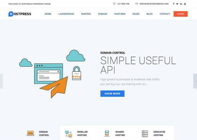Hostingpress - giao diện website bán hosting - domain hàng đầu