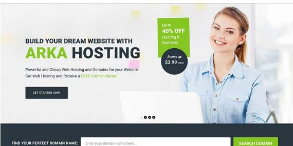 Top 10 giao diện website bán hosting domain