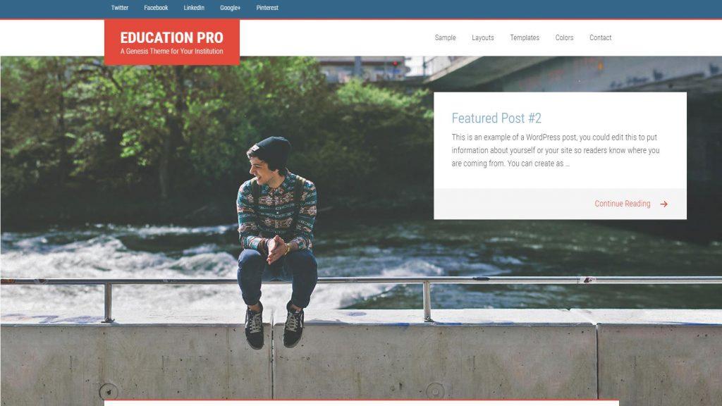 theme giáo dục cho wordpress EducationPro